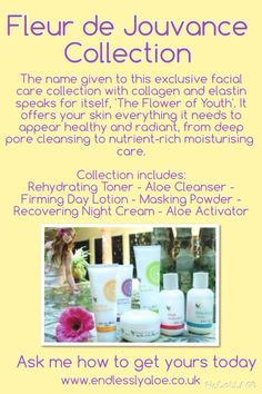 Love this set. it would make a fabulous gift for your mum, friend, girlfriend. Facial Care, Collagen, Cleanser, Aloe, Your Skin, How To Get, Skin Care, Free Delivery, Day
