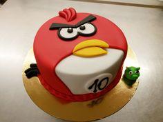 Dětský dortík Angry birds, potažený barevným fondánem. Angry Birds, Cake, Food, Pie Cake, Pie, Cakes, Essen, Yemek, Meals