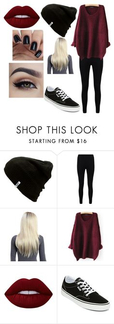 """""""Untitled #1745"""" by hey-mate on Polyvore featuring Vans, Boohoo and Lime Crime"""