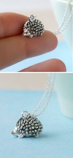 Tiny Hedgehog Necklace <3 <<<< You guys! They put Jawn on a necklace!