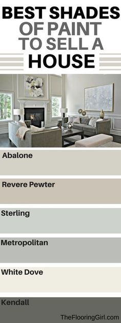 What are the best paint colors for selling your house - Selling House Tips - Ideas of Selling House Tips - Like sterling for living room pewter for bedroom Best Paint Colors, Interior Paint Colors, Paint Colors For Home, Interior Design, Living Room Paint Colours, Room Interior, Bedroom Colors, Paint Colours For Bedrooms, Home Paint