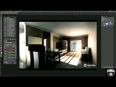 Corrigindo iluminação com Photoshop em projeto criado no 3D Max
