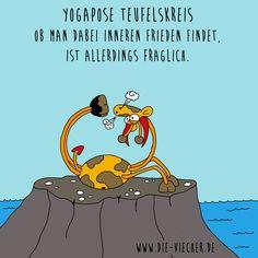 @DieViecher , Cartoon , Comic , Giraffe , Giraffen , www.die-viecher.de , Oberhausen , NRW  , Deutschland , Cartoonist, Eva Böhm, Redewendung, Sprichworte, Wortspiele, schwarzer Humor, Wortwitz, wortwörtlich nehmen, über Worte stolpern, Animation Cartoon, lustige Tiere, typisch Deutsch, Cartoonist, Teufelskreis, Teufel, Yoga, Yogapose, Yoga Unterricht, Yoga Übung innerer Frieden, Healthy, Rückenübung, starker Rücken, Yoga, Meditation, Entspannung, inneren Frieden finden,