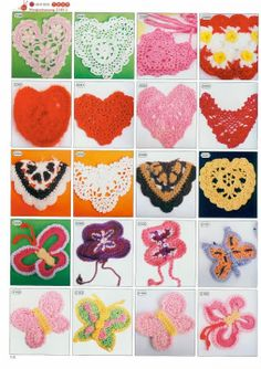 "This applique can be applied to or even turned into a squares. ""2086-2105 - 2180 Crochet Motifs - Donna Taylor - Picasa Web Albums"""
