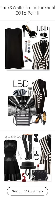"""Black&White Trend Lookbook 2016 Part II"" by yours-styling-best-friend ❤ liked on Polyvore featuring Balmain, McQ by Alexander McQueen, Mary Kay, Chanel, Terre Mère, Bare Escentuals, Charles Jourdan, Christian Louboutin, Sonia Rykiel and Bernard Delettrez"