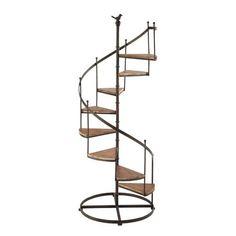 Estantería escalera de metal y madera con efecto óxido An. 53 cm CASTELLANE