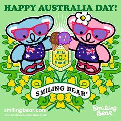 Happy Australia Day 2013!    http://smilingbear.com/blog/happy-australia-day-2013    #smilingbear #smilemore #koala #koalabear #bear #smile #smiling #happy #cute #kawaii #australia #aussie #sydney #beach #manga #art #design #illustration #cartoon #characterdesign #fun #meme #otaku #plush #iphonesia #kawaiigurls #kawaiioftheday #australiaday #flag #ozday