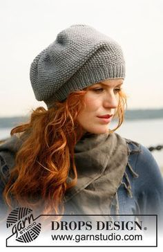 """Baltique - Knitted DROPS slouchy hat in """"Lima"""". - Free pattern by DROPS Design. Yarn is normally for mm needles but this knit knitting pattern calls mm. Knitting Stitches, Knitting Patterns Free, Knit Patterns, Free Knitting, Free Pattern, Knitting Needles, Knit Or Crochet, Crochet Hats, Drops Design"""