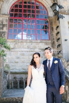 This Gorgeous couple got married in Forte da Cruz. Event planning, styling and design by The Wedding Company - Portugal.  Photo by Catarina Zimbarra Photography