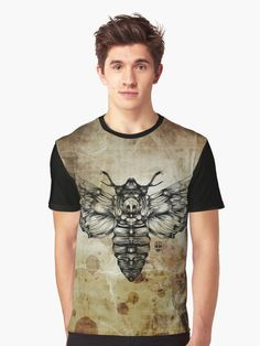 'Moth' Graphic T-Shirt by fakeface      I particularly like this work…it reminds me of cientific illustrations . Fakeface digital draw product…hope you guys like it! • Also buy this artwork on apparel, stickers, phone cases, and more. https://www.redbubble.com/people/fakeface/works/26815346-moth?asc=u&p=mens-graphic-t-shirt&rel=carousel&utm_campaign=crowdfire&utm_content=crowdfire&utm_medium=social&utm_source=pinterest