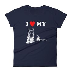 I Love My German Shepherd - Women's Short Sleeve T-shirt