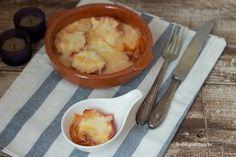 Canastillas de jamón rellenas de huevos de codorniz gratinados