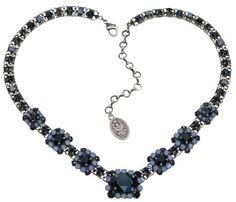 Halskette-V Cocktail dunkelblau
