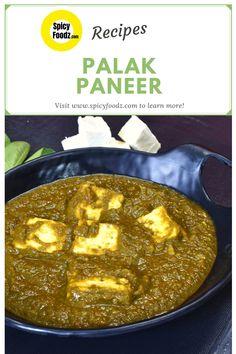 How To Make Perfect Punjabi Style Palak Paneer Recipe | Dhaba Style Palak Paneer | Delicious Spinach & Cottage Paneer Recipe  Ingredients: • Palak leaves/Spinach (250 grams) • Oil  • Bay leaf • Dry red chili • Cumin seeds • Ginger-Garlic paste • Onion paste • Tomato paste • Spinach paste • Salt • Turmeric Powder • Kashmiri Red Chili Powder • Garam Masala • Asafoetida (Hing) • Paneer  #palakpaneer  #punjabipalakpaneer #spicyfoodzrecipes #palakpaneerrecipe  #indiancuisine #palaksaag  Paneer Masala Recipe, Paneer Recipes, Veg Recipes, Garam Masala, Spicy Recipes, Palak Paneer, Indian Food Recipes, Ethnic Recipes, East Indian Food