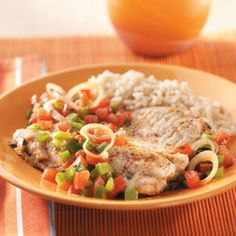 Mediterranean Fish Skillet Recipe from Taste of Home -- shared by Sarah Christenson of Pensacola, Florida