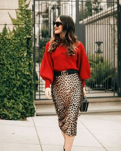 9369d35aee6c Cute Winter Outfits From Your Capsule Wardrobe. Leopard Print SkirtLeopard  ...