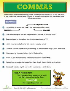Third Grade Reading & Writing Worksheets: Use of a Comma Grammar Worksheets, Printable Worksheets, Course Schedule, Third Grade Reading, Financial Stress, Math Test, English Reading, Primary Lessons, Kids Education