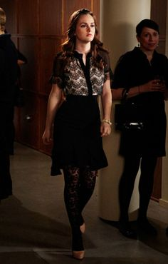 "'Gossip Girl,' Season 5, Episode 17: ""The Princess Dowry""BLAIR WALDORF (LEIGHTON MEESTER)+ Blouse: Jason Wu+ Skirt: Black A-line skirt+ Tights: Eric Daman for DKNY+ Shoes: 3.1 Phillip Lim 