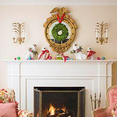 48 Inspiring Holiday Fireplace Mantel Decorating Ideas  Family Holiday