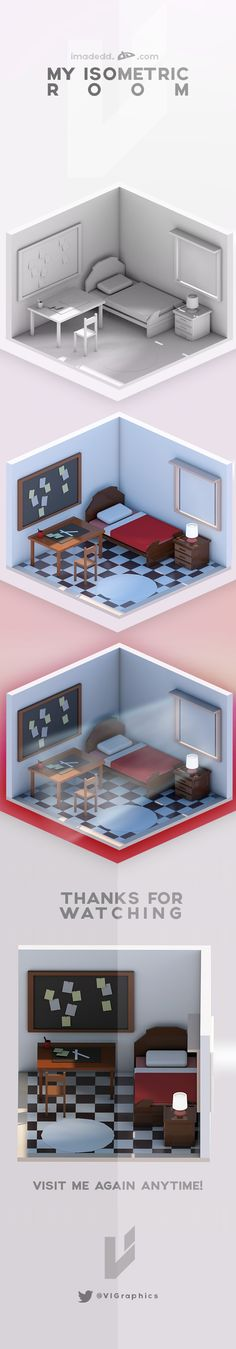 My Isometric Room on Behance