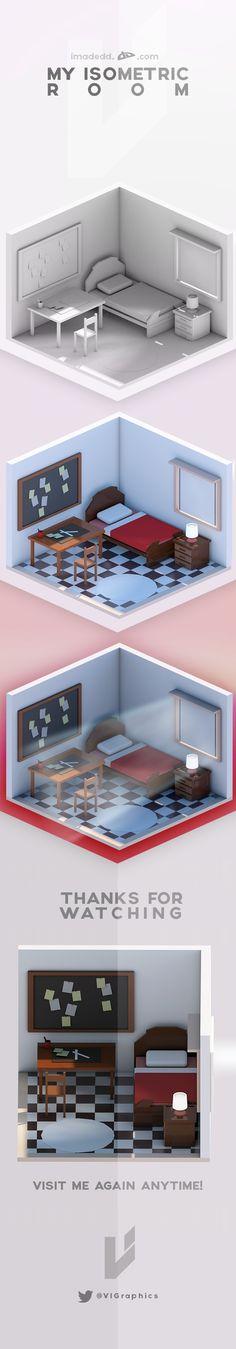 My Isometric Room on Behance  큐브브이레이, 아래 관련핀