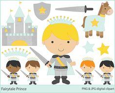 prince clipart clip art digital - Fairytale Prince Clipart. $5.00, via Etsy.