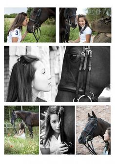 Photo montage - horse and girl----NEED to do this with my sweet baby Towner this summer