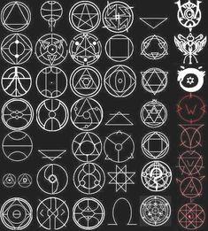 fma transmutation circles anime and manga pinterest tatouages id es de dessin et. Black Bedroom Furniture Sets. Home Design Ideas