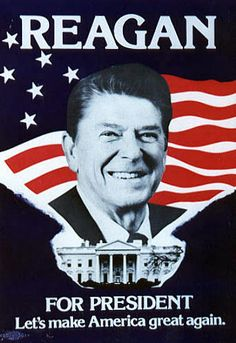 campaign posters Campaign poster for Ronald Reagan, 1980 Greatest Presidents, American Presidents, Us Presidents, American History, Republican Presidents, American Flag, 40th President, President Ronald Reagan, Reagan Library