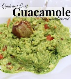 Quick and Easy Guacamole Recipe - 5 ingredients done and done! YU!M!