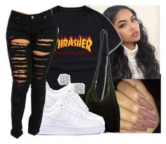 #thrasher by eazybreezy305 ❤ liked on Polyvore featuring Acne Studios, NIKE, Bloomingdales, SimpleOutfits, DOPE and 2017