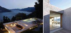 Zalig: terras met ingebouwd zwembad en verzonken zithoek