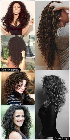 Corte em Camadas para Cabelos Cacheados (curto, médio e longo) Natural Curls, Natural Hair Styles, Long Hair Styles, Hair Inspo, Hair Inspiration, Curly Hair Cuts, Curly Girl, Afro Girl, Curled Hairstyles