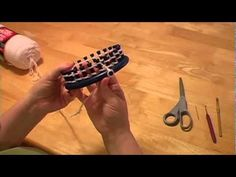 Knitting a scarf on Round Loom Part I  (I made these videos to show how to make a scarf from start to finish)