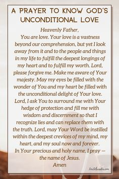 For When You Want to Know God's Unconditional Love – Lori Schumaker Prayer Verses, Bible Verses, Scripture Images, Christian Post, Christian Living, Christian Faith, Love The Lord, Gods Love, Perfect Strangers