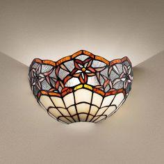 Perenz T966 A lampada da parete stile Tiffany, design vintage