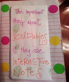 Foldable Interactive Math Notebook