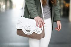 #BettyxLancaster #bag #white #military #outfit #lancasterparis #lancaster (Pic by 101 Things Girls Like)