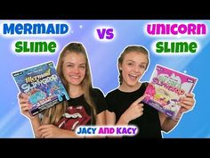Mermaid Slime vs Unicorn Slime ~ Save or Spend ~ Jacy and Kacy Karina Garcia, Mermaid Slime, Slime Kit, Pop Toys, Other Outfits, Sisters, Challenges, Author, 1direction