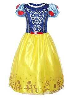 2019 new Snow White Sophia dress girl zipper digital print cute princess dress