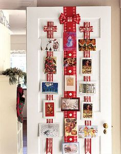 Creative, Clutter-Free Ideas For Displaying Christmas Cards – Christmas DIY Holiday Cards Hanging Christmas Cards, Christmas Card Display, Christmas Card Holders, Christmas Decorations, Xmas Cards, Cards Diy, Greeting Cards, Merry Little Christmas, Christmas Bells