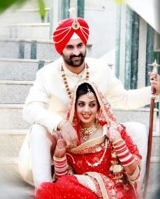 Sikh wedding photography Punjabi couple
