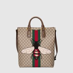 988f2e0f2cd689 Web Animalier GG Supreme tote with bee Men's Collection, Louis Vuitton  Damier, Man Shop