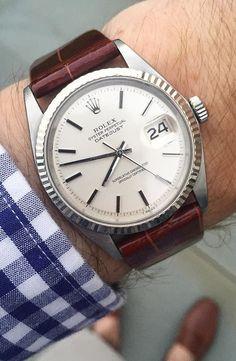 Rolex Datejust Rolex Watches For Men, Seiko Watches, Wrist Watches, Dream Watches, Luxury Watches, Vintage Rolex, Vintage Watches, Rolex Tudor, Leather Watch Bands