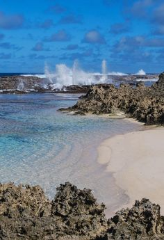Blowholes at Keleti Beach, Tonga