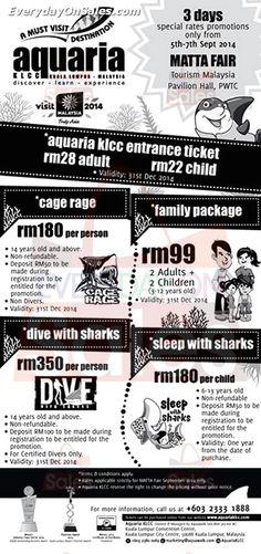 5-7 Sep 2014: Aquaria KLCC Entrance Ticket Matta Fair Discounts Promotion #Sports #Promotions_&_Freebies #kuala_lumpur #Sales_Calendar #theme_parks
