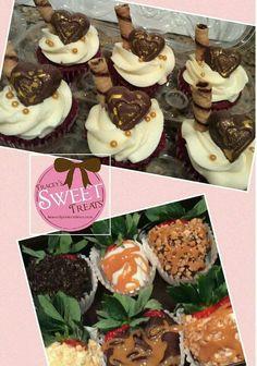 Red Velvet Romance Cupcakes and Gourmet Strawberries
