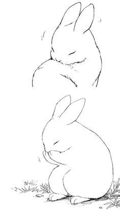53 New Ideas Drawing Cute Bunny Rabbit Rabbit Drawing, Rabbit Art, Bunny Rabbit, Bunny Art, Cute Bunny, Animal Sketches, Drawing Sketches, Drawing Ideas, Sketch Ideas