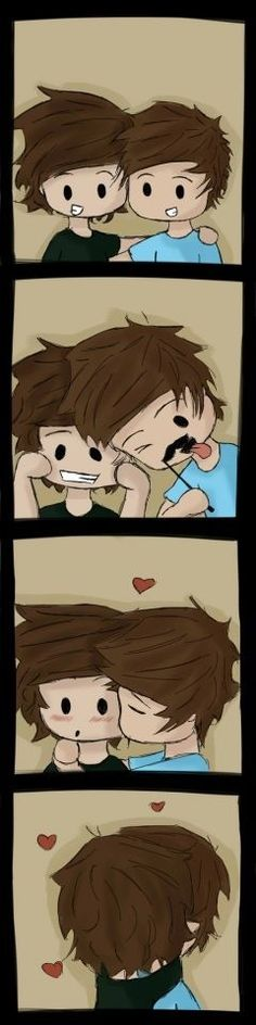 Larry Stylinson fan art. Probably the highest pitch squeal I've ever made inspired entirely by this cuteness ^_^