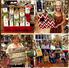 Such a great evening crafting at Sweet Grass. We'll be back to Open Workshops next week. Watch for our email to come out tomorrow evening. #letsgetcrafty #palletart #christmasisnear #workshop #palletsburlapandwine #lkn #lknfun #shoplkn #mooresville #shoplocal